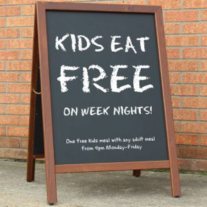 Cost efficient chalkboard solution with excellent outdoor performance.